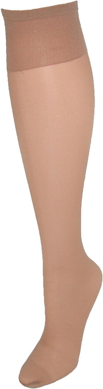 Hanes Women`s Silk Reflections Plus Knee Highs Enhanced Toe