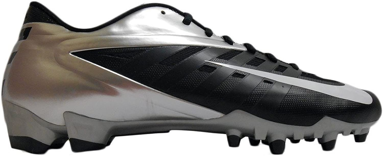 Vapor Pro Low Td Molded Football Cleats (16, Black white-metallic Silver)