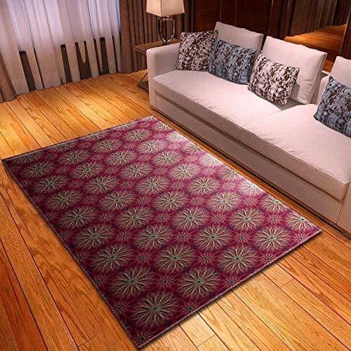 BFSOC Alfombra Caramelo Arcoiris de Salón Moderna de Diseño de Velour Corto, Alfombra Mullida, Alfombra Antideslizante para el Hogar, Tamaño: 200X300 cm