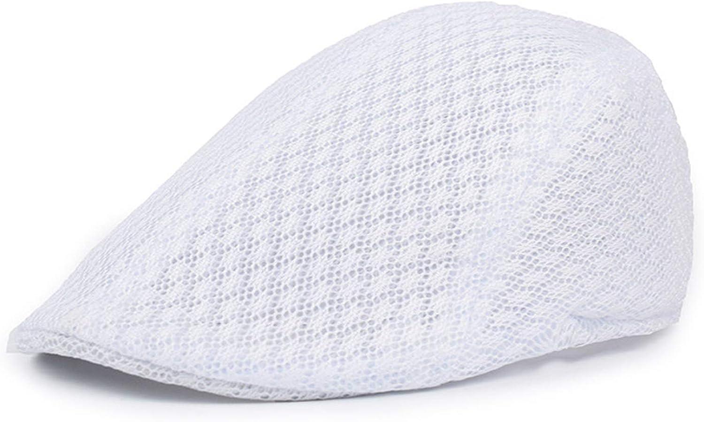 ZARSIO Men Mesh Flat Cap Breathable Summer Hat Newsboy Hat Ivy Hat Cabbie Hat