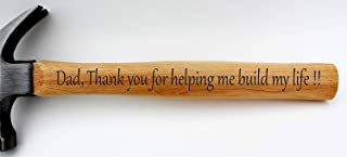 Personalized Hammer For Dad - Dad Gifts From Daughter - Fathers Day Gifts From Son - Hammer Engraved - Hammer Engraved For Dad - Dad Birthday Gifts - Dad Gifts From Son - Engraved Hammer