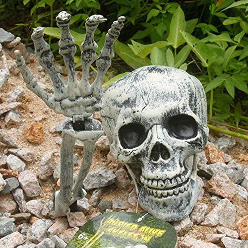 bouncevi Prop Esqueleto Halloween Embrujado con Brazos 2019 Familias Sylvanian De Halloween Terror De Halloween Para Decoraciones De Césped De Jardín 18x14 Cm beautifully