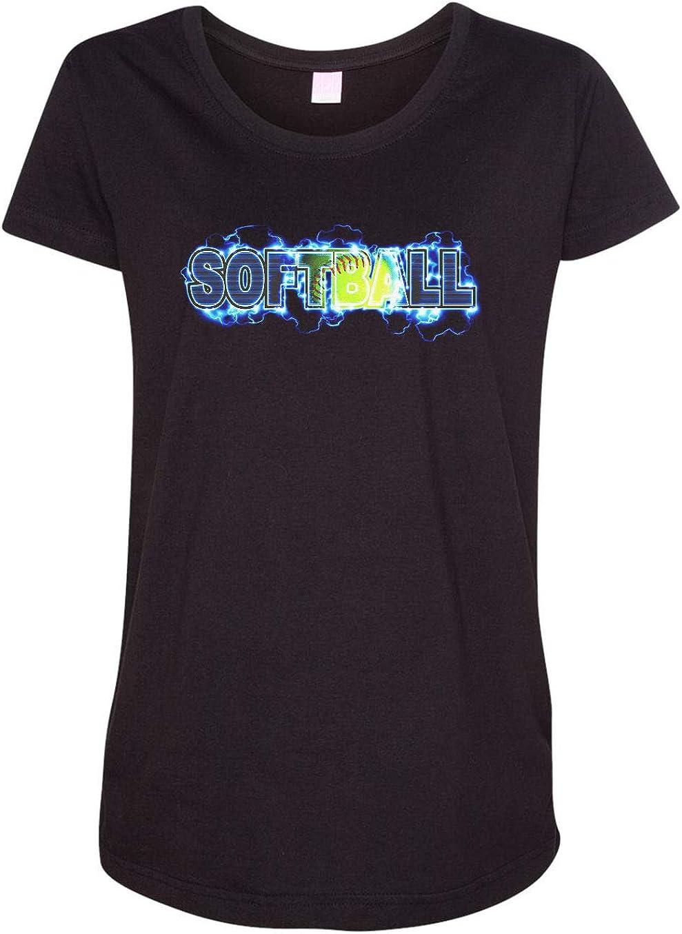 HARD EDGE DESIGN Women's Softball Lightning T-Shirt