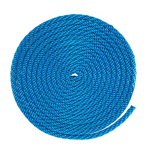 """GOLBERG Solid Braid Nylon Utility Rope – Multipurpose Rope for Outdoor Activities, Commercial Applications, Crafts – Pacific Blue (1/8"""" x 50 Feet)"""
