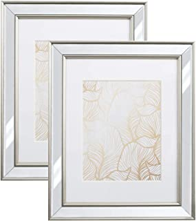 8x10 Picture Frame Mirrored - 2 Pack - Mount Desktop Display, Frames by EcoHome