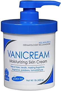 Vanicream Moisturizing Skin Cream with Pump Dispenser - Pack of 4