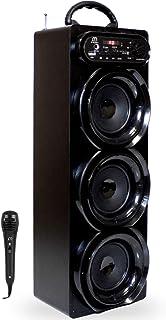 comprar comparacion Music Life Altavoz Karaoke Bluetooth Portátil con Micrófono Inlámbrico USB Tarjeta TF Recargable con Radio FM (293-2)