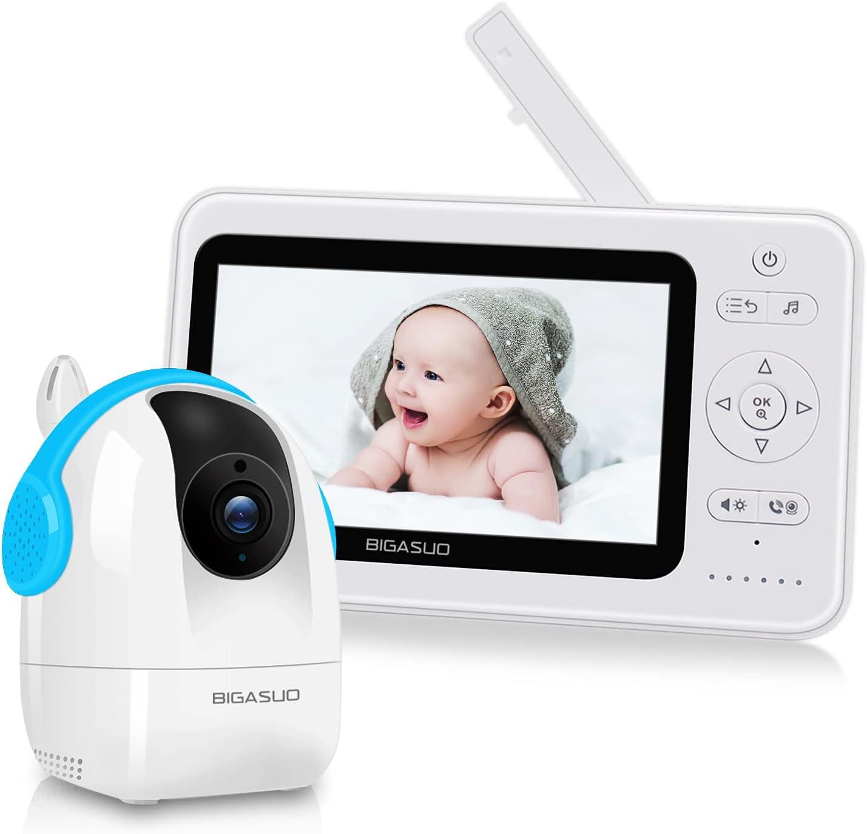 Baby Monitor with Camera and Audio BIGASUO 5
