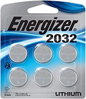 Energizer 2032 Lithium Coin Battery, 6 Pack (2 Pack)