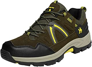 Men's Hiking Shoes Man Outdoor Lace Up Sneakers Teens Non-Slip Wear-Resistant Waterproof Sports Shoes