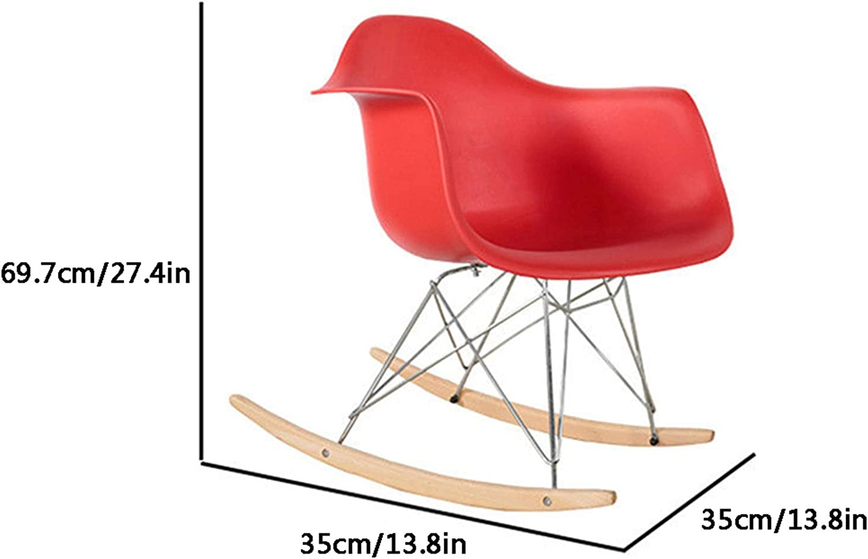 Nordic Style Rocking Chair Rocking Chair Seul ménage Salon Moderne Minimaliste Balcon Occasionnel Joyeux Lazy Rocking Chair,Marron Black