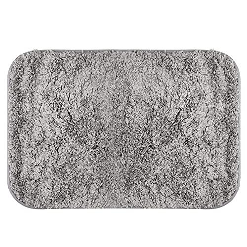 CXtech Tappetino da bagno antiscivolo per bagno, tappetino da bagno ultra morbido super assorbente Tappetino da cucina in microfibra soffice Tappetino da cucina, asciugatura rapida - 40 x 60 cm Grigio