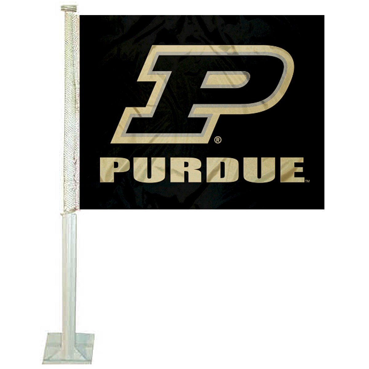 College Flags and Banners Co Purdue Boilermakers Slant P Logo Flag