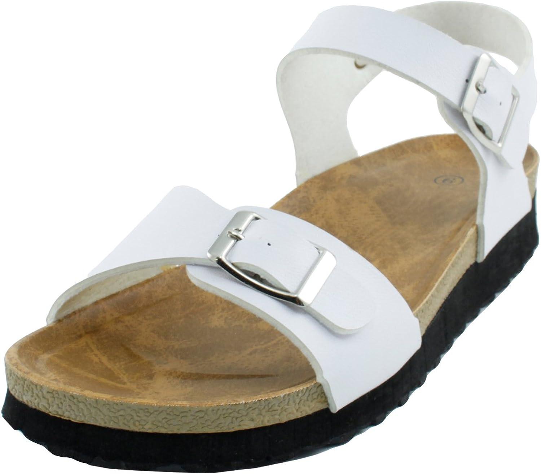 Cambridge Select Women's Open Toe Double Strap Slingback Buckle Flatform Low Wedge Sandal