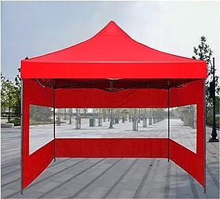 خيمة غازيبو شفافة قابلة للطي من جي دي إم إنج، مقاومة للماء في الهواء الطلق مظلة شديدة التحمل، مع إطار من الصلب و3 جوانب لت...