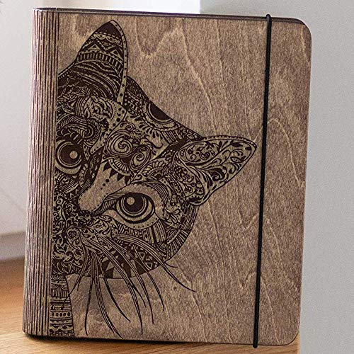 Personalized Cat Lover Gift Wooden Blank Recipe Book