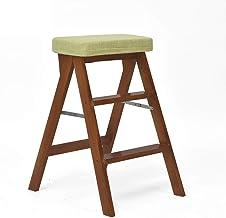 Familie opstapkrukje, Stapladder/stapladder niveau 3, loopvlak, houtreiniging stoel, vlasweefsel, verlengde stoel hoge kru...
