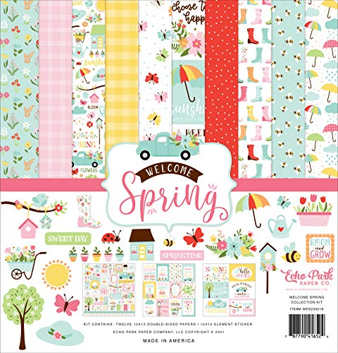 Echo Park Paper Company Welcome Spring Collection Kit Scrapbook Paper