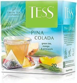 Tess, Piña Colada - Green Tea, Mango, Pineapple, 20 Sobres