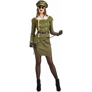 Disfraz de Militar Coronel para mujer: Amazon.es: Juguetes y juegos