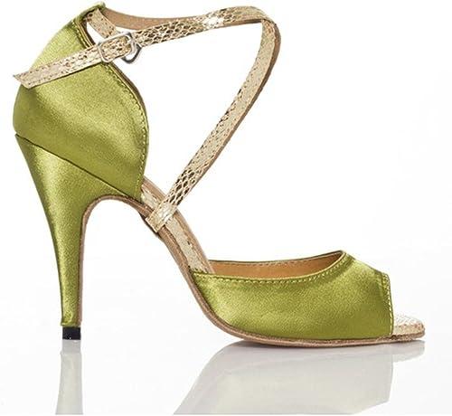 WYMNAME femmes Chaussures de Danse Latine,Chaussures de Danse Sociale Chaussures de Danse de Salon Sandale