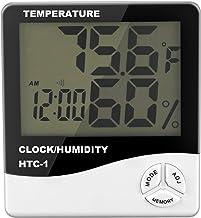 ACAMPTAR Digital LCD Interior Habitacion Exterior Temperatura Electronica Humedad Medidor Termometro Higrometro Estacion meteorologica Despertador