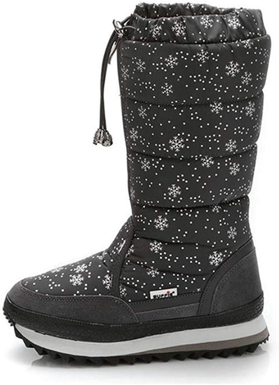 Women's Fashion Casual Winter Warm Waterproof Fur Lined Frosty Snow Boots