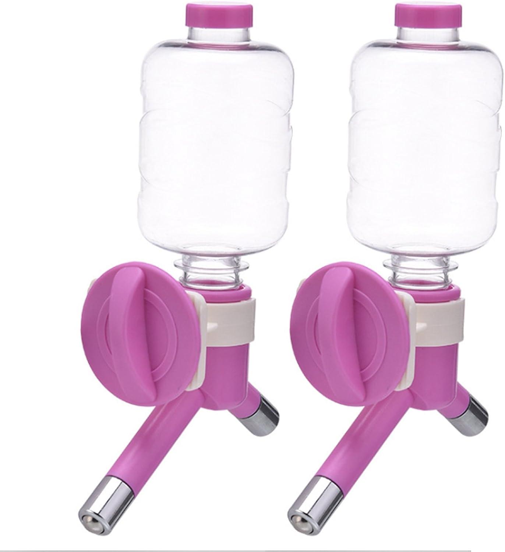 Alfie Pet  Evian 2Piece Set Pet Water Bottle Dispenser  color  Pink