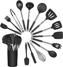 Vicloon Keukengerei Set, 15 stuks siliconen gebruiksvoorwerpen set, keukengereedschap inclusief borstel, lepel, spatel, ni...