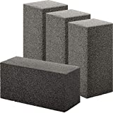 Non Toxic, Restaurant Grade Grill Cleaning Brick 4 Pack. Reusable, Non Scratch Pumice Stone Bricks for Smokers, Flat Top Grills, BBQ Grates, Flattops and Cast Iron. Best Griddle Cleaner Tool Block.