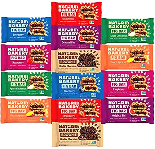 Whole Wheat Fig Bars, Variety Pack - Ultimate Healthy Stone Ground Whole Wheat Fig Bar (14 COUNT) Variety Pack Sampler, All Natural NON GMO Snack Food