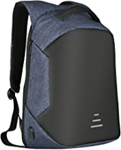 JYKJ Laptop Backpack With USB Charging Port, Multi-function Waterproof Backpack, Outdoor Travel Anti-theft Backpack Men's And Women's Student Bag (Color : Blue)