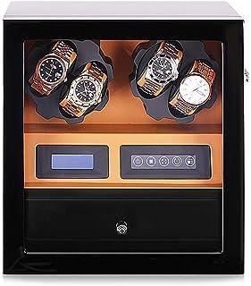 Automatic Watch Winder Box for 4 orologi + 5 memorizzazione della posizione, digitale a cristalli liquidi argano della vig...