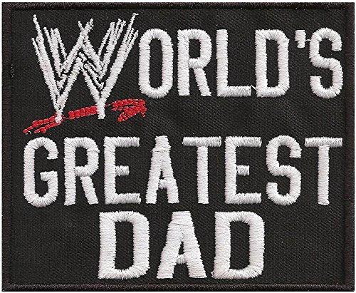 WORLDS Greatest Dad, WWE, WWF, Heavy Metal, Aufnäher, Patch, Abzeichen