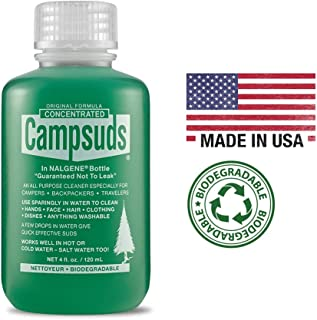 Sierra Dawn Campsuds Outdoor Soap in Nalgene Bottle, Biodegradable Environmentally Safe All Purpose, Camping Hiking Backpacking Travel, Multipurpose Dishes Shower Hand Shampoo