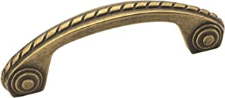 Amerock BP53470-BB Allison Scroll Pull 3-Inch Center, Burnished Brass