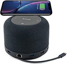 Universal Laptop Hub, Dock, and Speaker with USB-C/USB 3.0 Ports and Wireless Charging Pad for Work from Home (WFH) Compat...