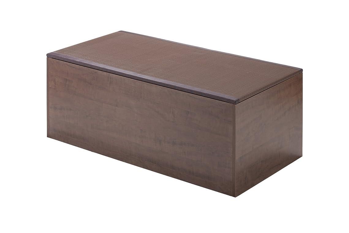 風邪をひくレインコート良心PP樹脂畳ユニット ハイタイプ W120×D60×H45cm ブラウン PP-H120-BR