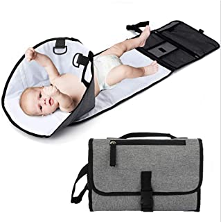 Portable Baby Diaper Changing Pad with Head Padding, Detachable Waterproof Baby Travel Changing Mat Station for Toddlers I...