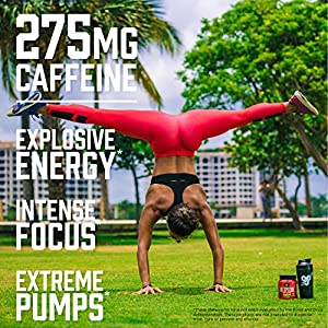 BSN N.O.-XPLODE Pre Workout Supplement with Creatine, Beta-Alanine, and Energy, Flavor: Fruit Punch, 60 Servings