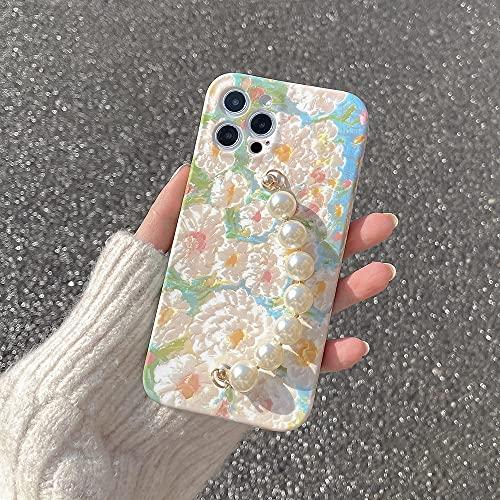 Custodie per cellulari con bracciale di perle per iPhone 12 Pro Max 11 Pro Max X XS XR 7 8 Plus SE 2020 12 mini cover morbida con cinturino a catena,CUSTODIA con catena,per iPhone 7 o 8