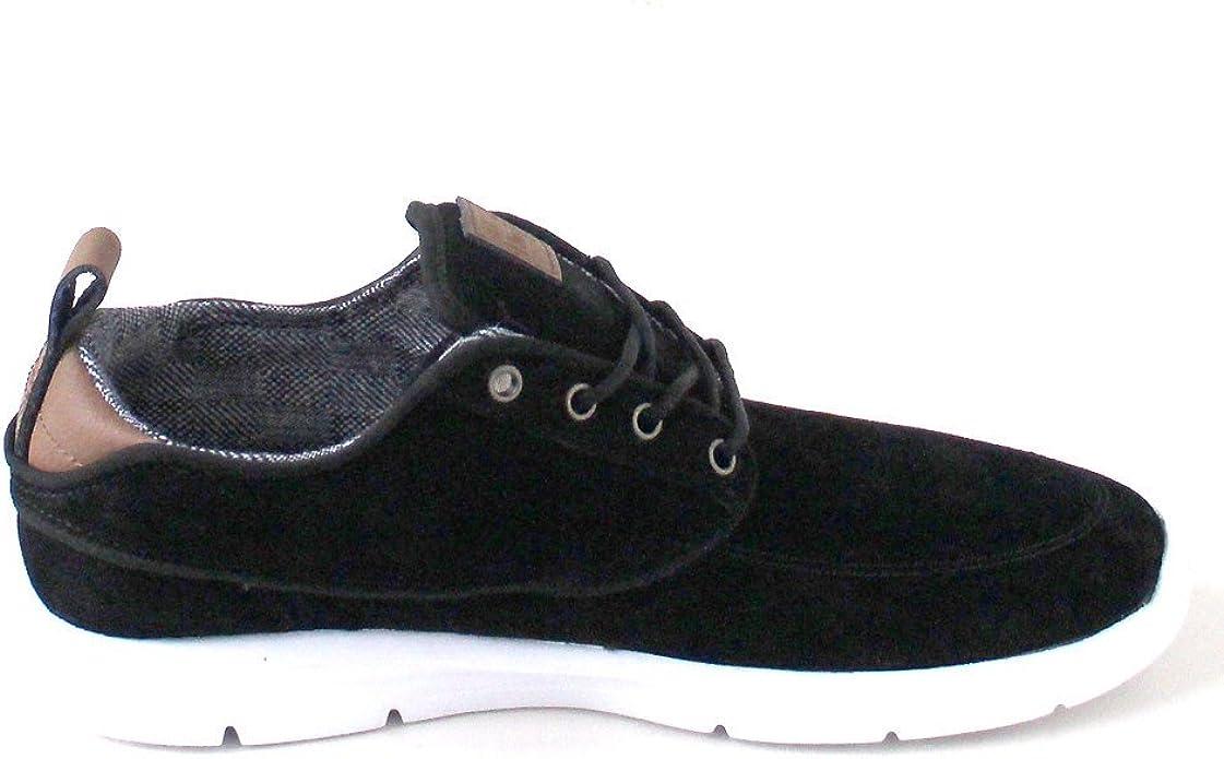 Amazon.com: Vans Brigata Lite Mens 8.5 SL Black White Fashion ...