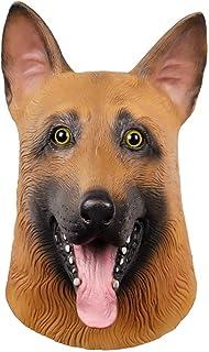 ZJMIYJ Halloweenmask, halloween hund huvud mask schäfer gummi djur mask kostym fest karneval cosplay
