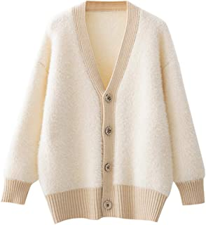 Ladies Long Sleeve Casual Solid Cardigan Winter Loose Button Women Sweater Coat