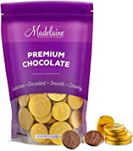 Madelaine Premium Milk Chocolate Gold Coins (Assorted Sizes, 1/2 LB)