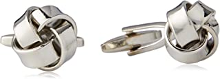 BUCKLE 1922 Men's Knot Cufflinks, Nickel Brushed, One Size