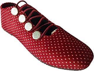 Walk Street Black and White Polka Dotts Belly/Shoes (IND-258-DOT)