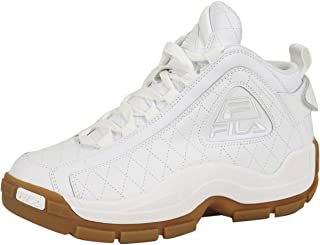 Men's 96 Quilted White Gum Hightop Basketball Shoes Sneakers