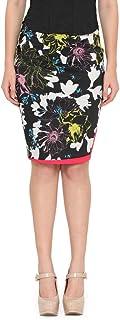 de beau Women's Cotton Lycra Printed Skirt