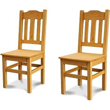 Elean Wooden Chair Dining Room Chair Heart With Backrest Solid Pine Wood Assembled Plain Colour Choice Of Colours Pine Amazon De Kuche Haushalt